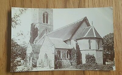 An Old Photo Postcard of Rushford Church St John Norfolk