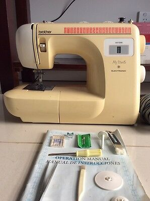 Brother My Star 15 Electronic Sewing Machine Plus Some accessories and manual