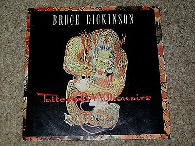 Bruce Dickinson ‎– Tattooed Millionaire UK  Paper Sleeve EX