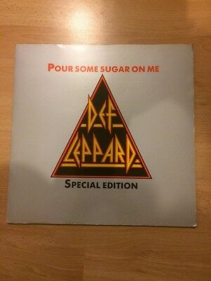 Def Leppard Pour Some Sugar On Me Shaped Picture Disc Single