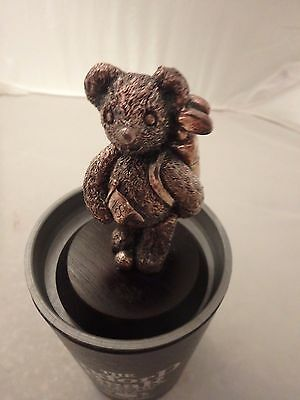 The Oxford Bear Collection Sterling Silver Golfing Bear