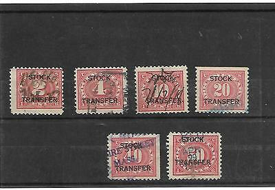 Collection Of Stock  Transfer Stamps
