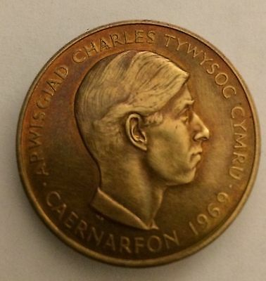 1969 Charles Prince Of Wales Investiture Bronze Medal Good Condition
