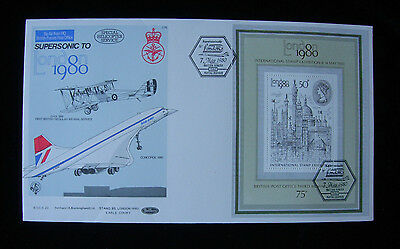 1980 Cover flown supersonic by Concorde New York to London