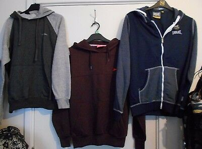 3 x bundle mens hooded sweatshirts, worn once and nwot, ex con