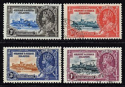 Gilbert & Ellice Islands 1935 Silver Jubilee set, used (SG#36/39)