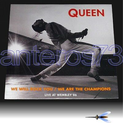 """Queen Freddie Mercury """"we Will Rock You / We Are The Champions"""" 12"""" Live Italy"""