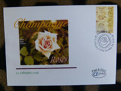 SCARCE ALPHA FIRST DAY COVER - 1998 CHAMPAGNE ROSES 45c STAMP