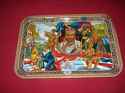 WW1 King George V Metal Breakfast Serving Picnic Camping Folding Tray VGC