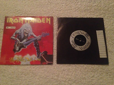 """Iron Maiden FEAR OF THE DARK LIVE FIRST PRESS 7"""" Picture POSTER SLEEVE RARE"""