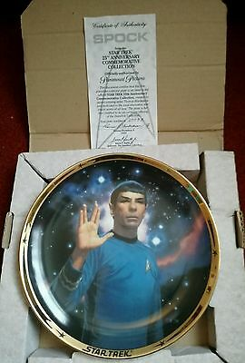 STAR TREK: SPOCK 25th Anniversary Commemorative Ceramic Plate, 1991