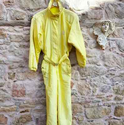 Women's vintage yellow ski suit size S