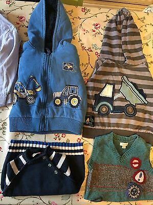 Big Bundle 15+ Winter Boys 18-24 Months Jumpers, Tops, Trousers Diggers Etc