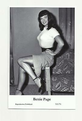 (N90) Glamour Bettie Page Swiftsure (333/70) Photo Postcard Film Star Pin Up