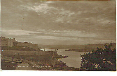 """RPPC Of """"  Cattewater , Plymouth """" posted 1925"""