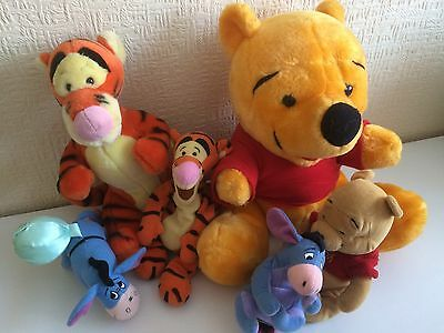 Winnie The Pooh Tigger And Eeyore Soft Teddy Toy Bundle Vgc (6)