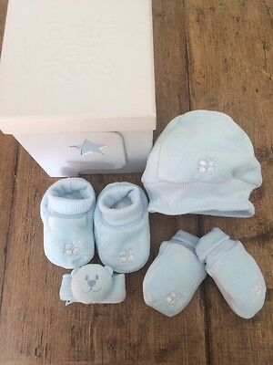 NEW GIFT BOX - Emile et Rose - Baby Boy 4 Piece Blue Set - Newborn - Baby Shower