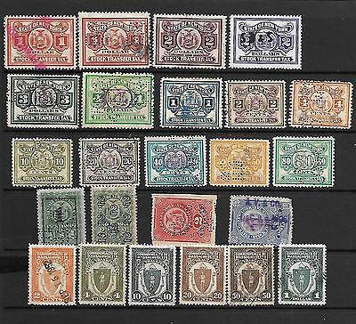 Collection Of New York Stock Transfer Stamps.  Used