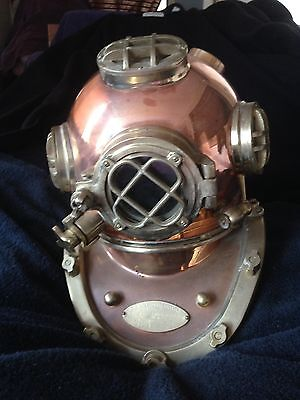 Morse Equipment Us Navy Diving Divers Helmet Aluminum & Brass Mark V