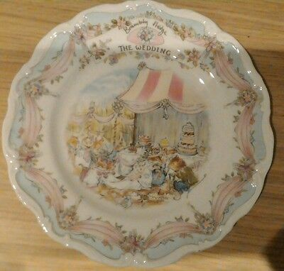 "Bramley Hedge Plate 8"" Royal Doulton The Wedding- 1987"