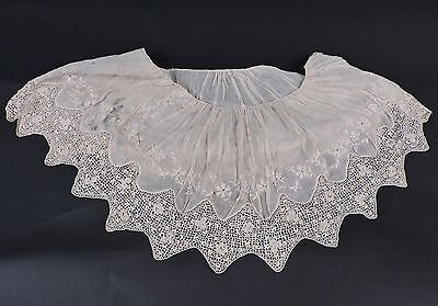 Antique Irish Crochet Lace Remnant From Dress / Strong And Useable