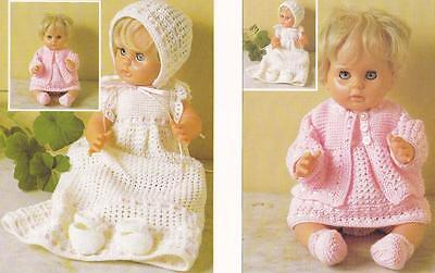 BABY DOLL LAYETTE - BABY BORN / FIRST LOVE or 42cm - COPY knitting pattern
