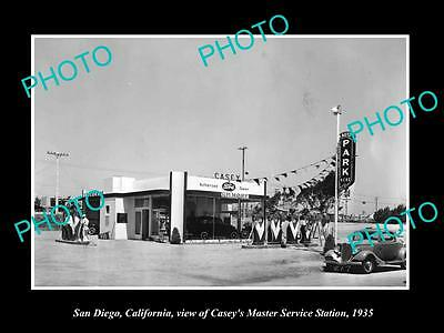 OLD LARGE HISTORIC PHOTO OF SAN DIEGO CALIFORNIA, THE FORD CAR DEALERSHIP c1935