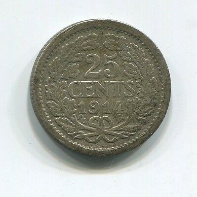 Netherlands 1914 2 1/2 Cents Coin