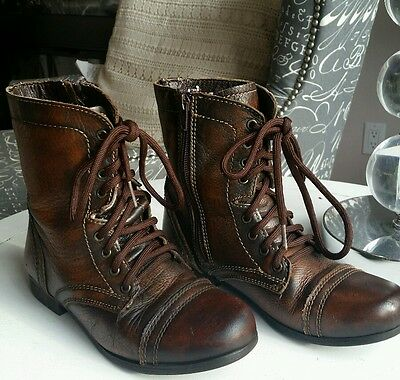 Girks Leather Boots with zipper size 2
