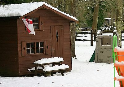 Wooden Playhouse Shed Wendy House 8'x 6'