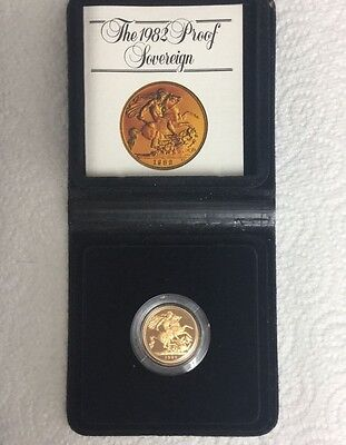 Royal Mint Proof Full Gold Sovereign 1982