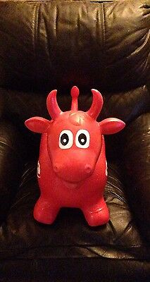 Happy Hopperz Red Bull Inflatable Jumping Space Hopper Toy