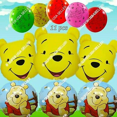 Winnie the Pooh Balloons Disney Decor Baby Shower Birthday Party Supplies lot E