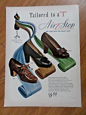 1943 Air Step Shoes Ad Tailored to a T