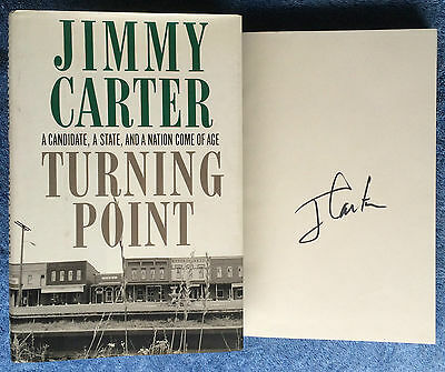 Hand Signed Book JIMMY CARTER - TURNING POINT - US President  + COA