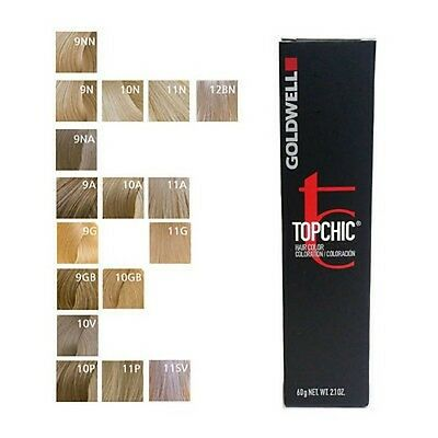 Goldwell Topchic Permanent Hair Color 60ml Tube Shade 8A Light Ash Blonde