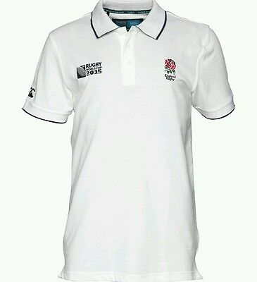 Rugby World Cup 2015 -Canterbury England Supporters Polo - White - 5XL - BNWT