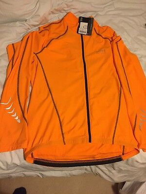 Gore Men's Contest Thermo Winter Long Sleeve Jersey Orange Brand New Size XL