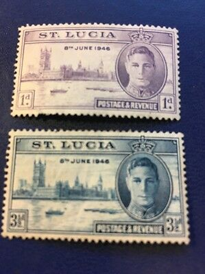 St Lucia 1946 KGVI Victory Omnibus Set  MH