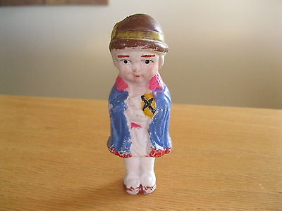 """Japan bisque doll Religious  cool little piece 4"""" tall"""