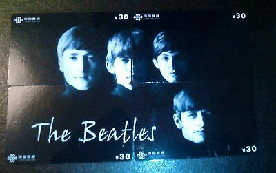 Beatles Set Of 4 Puzzle Phone Cards---B