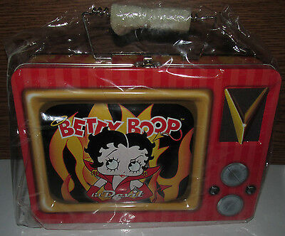 Betty Boop Lil Devil TV Tin Tote Lunchbox Collectible New Back to School