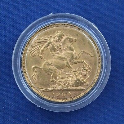 1900 Queen Victoria Full Gold Sovereign coin in Capsule   (W9/4)