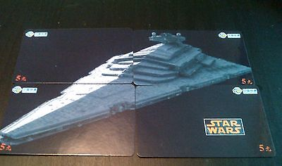 Star Wars Set Of 4 Puzzle Phone Cards---4