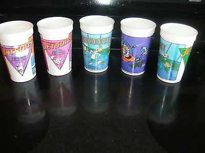Wendy's The Jetsons Plastic Cups  from The Movie 5 of them 1990