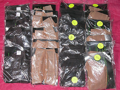 Job Lot Of 24 Pairs Of Sheer Hold Up Stockings 2 Styles In 2 Colours