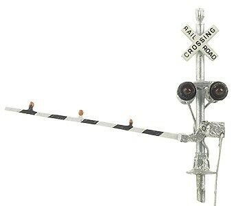 NJ International 2165 N Crossing Signal with Gates (2) Brass with LEDs