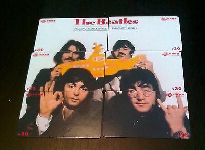 Beatles Set Of 6 Puzzle Phone Cards---3