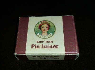 Diadem Grip-Tuth Pin Tainer Vintage Antique Nip