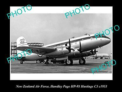 OLD LARGE HISTORIC AVIATION PHOTO OF NEW ZEALAND AIR FORCE RNZAF, HANDLEY c1953